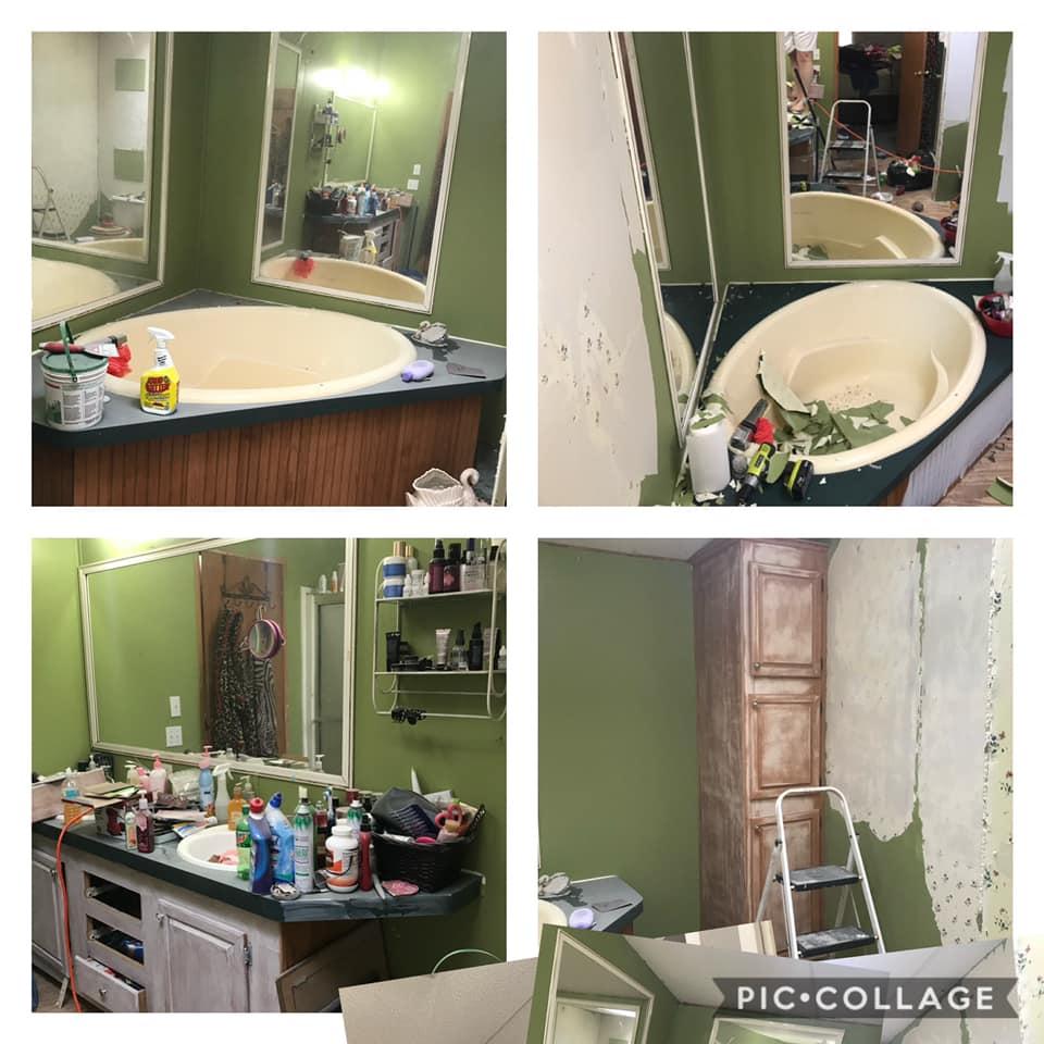 Debbie bathroom during remodel