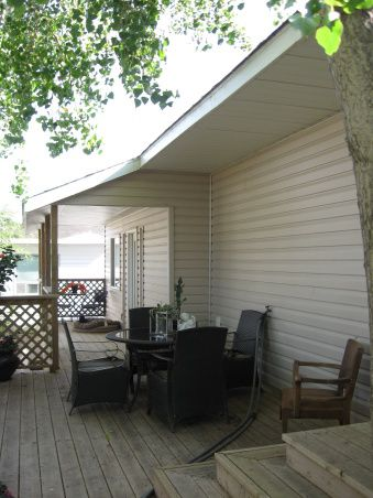 deck on addition of single wide