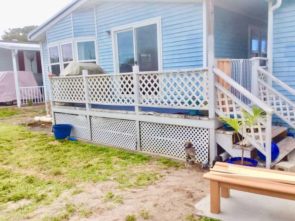 Deck With Lattice Railing In FL