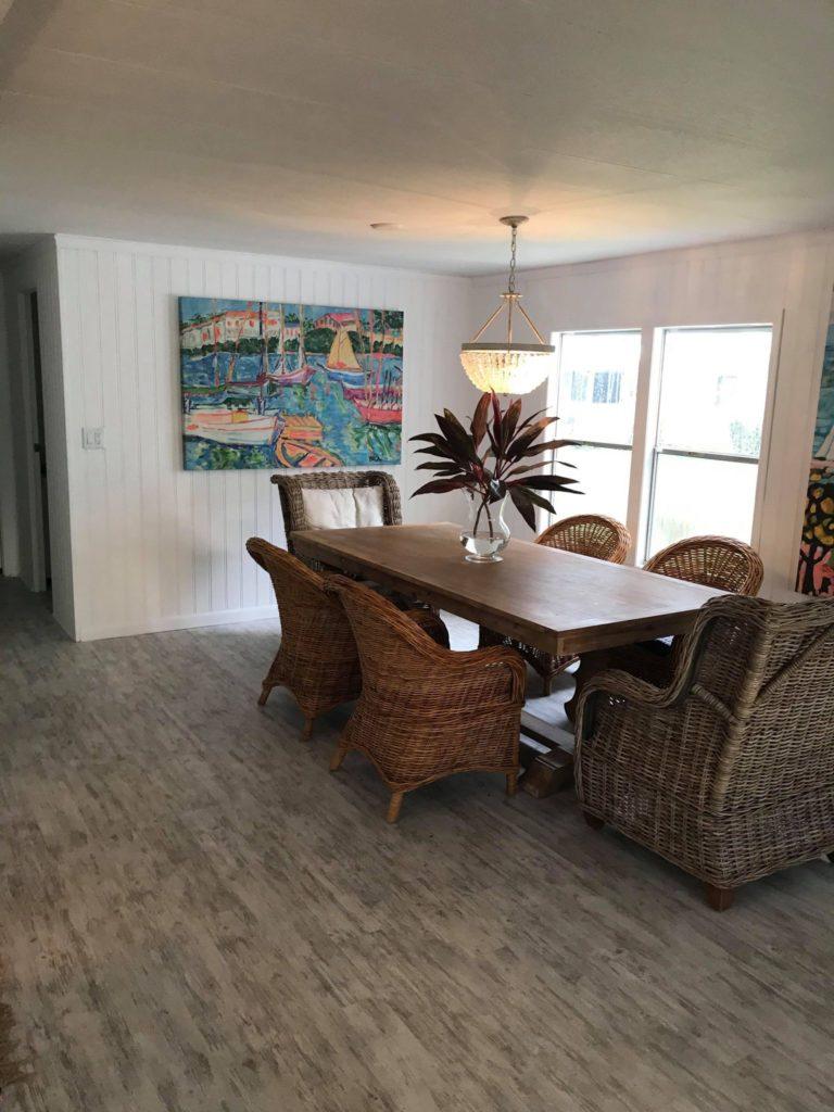 Designer mobile home dining room
