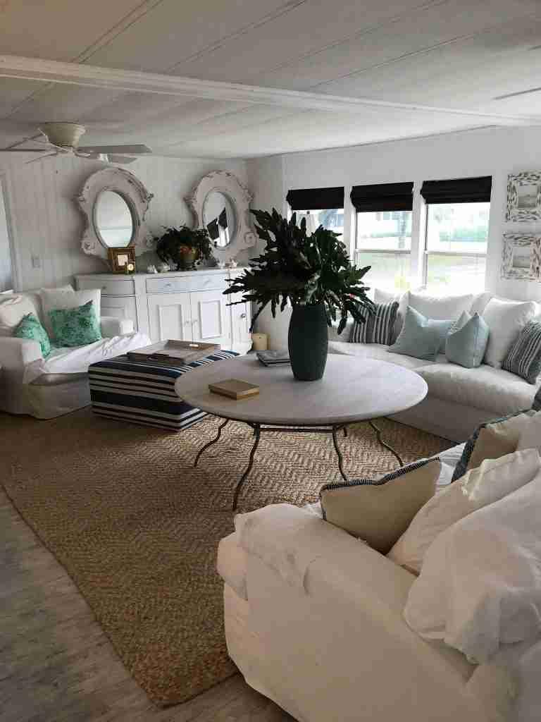 Designer mobile home living room