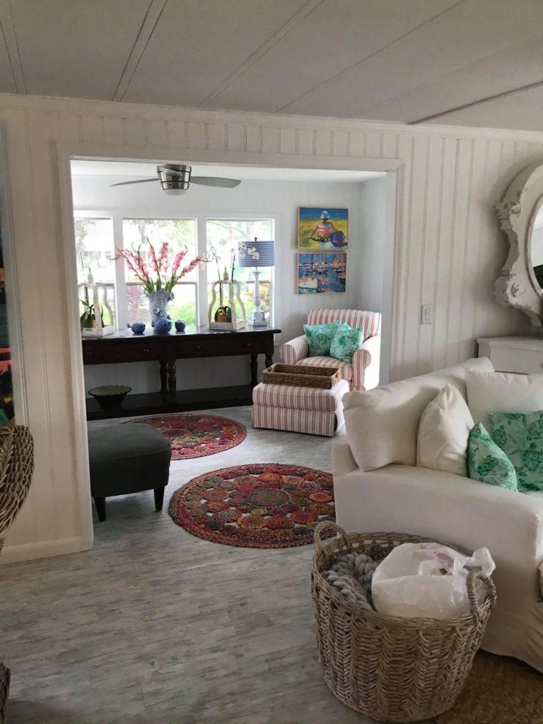 Designer mobile home sitting area