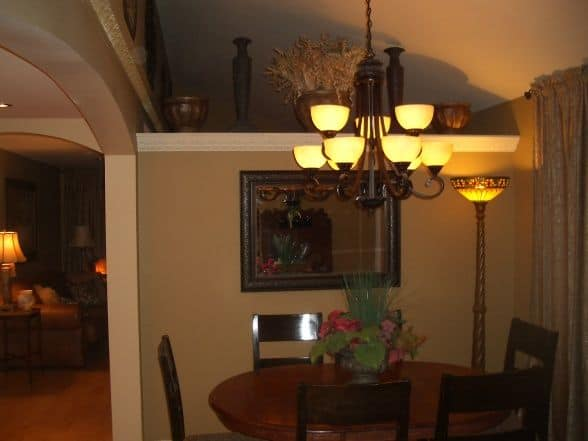 dining room of new addition