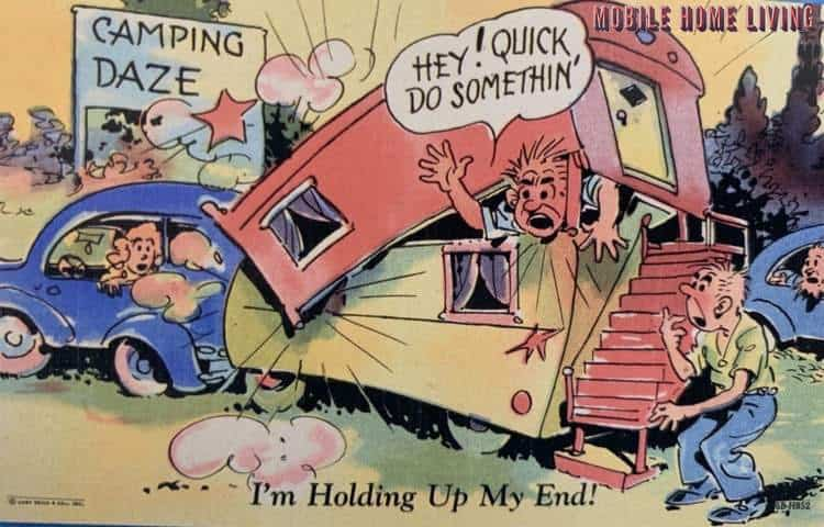 Do something vintage mobile home postcard 2