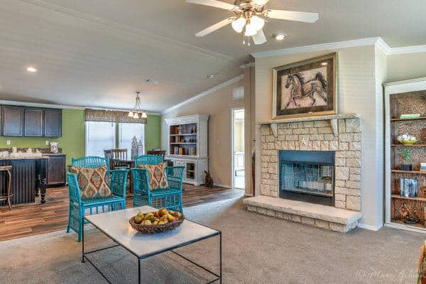 double wide manufactured home design-fireplace