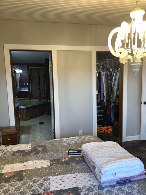 Double wide master bedroom before doors installed
