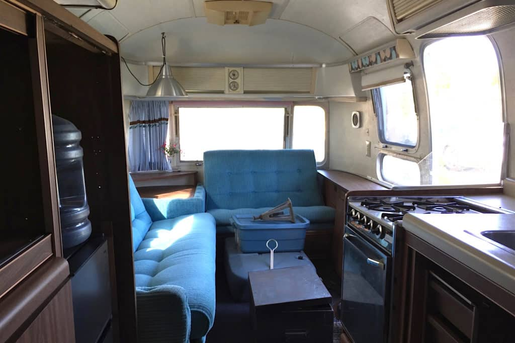 Dreamy airstream dining before