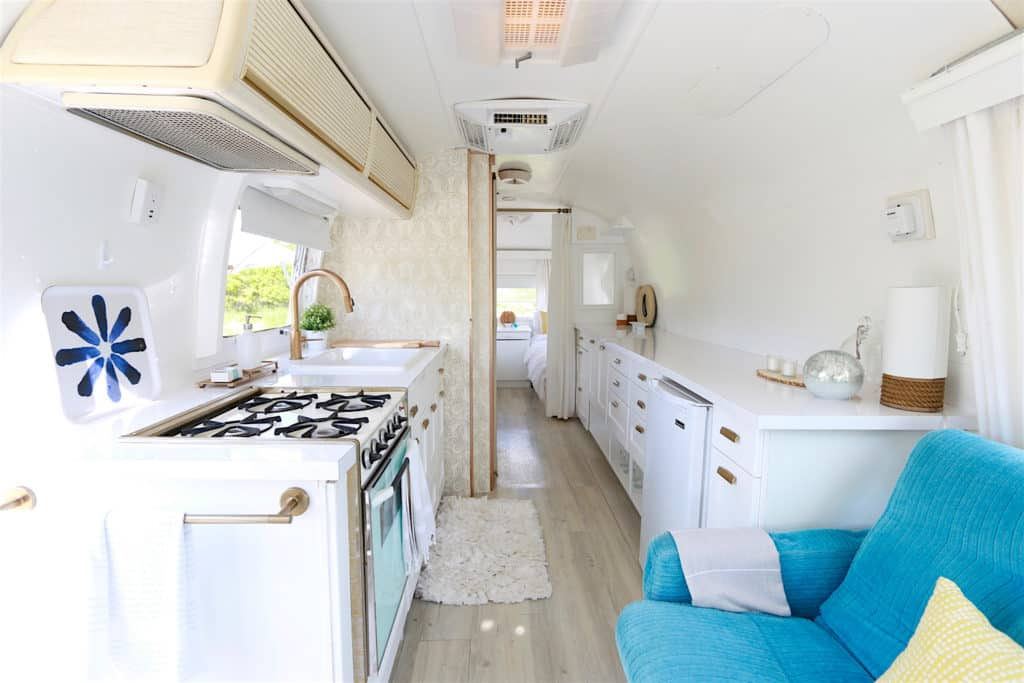 Dreamy Airstream Kitchen After