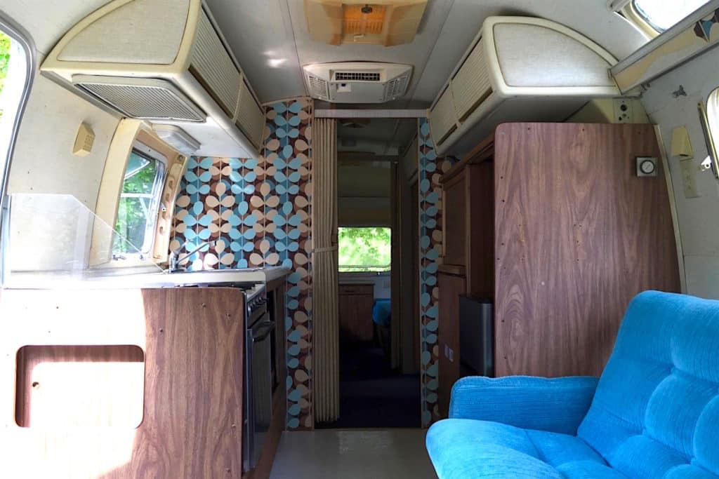 Dreamy airstream makeovers kitchen before