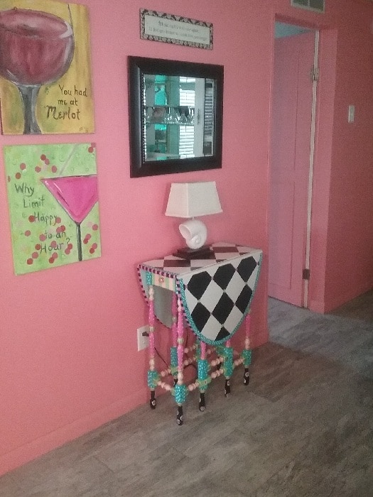 Eclectic Beach Mobile Home After Makeover Colorful Walls