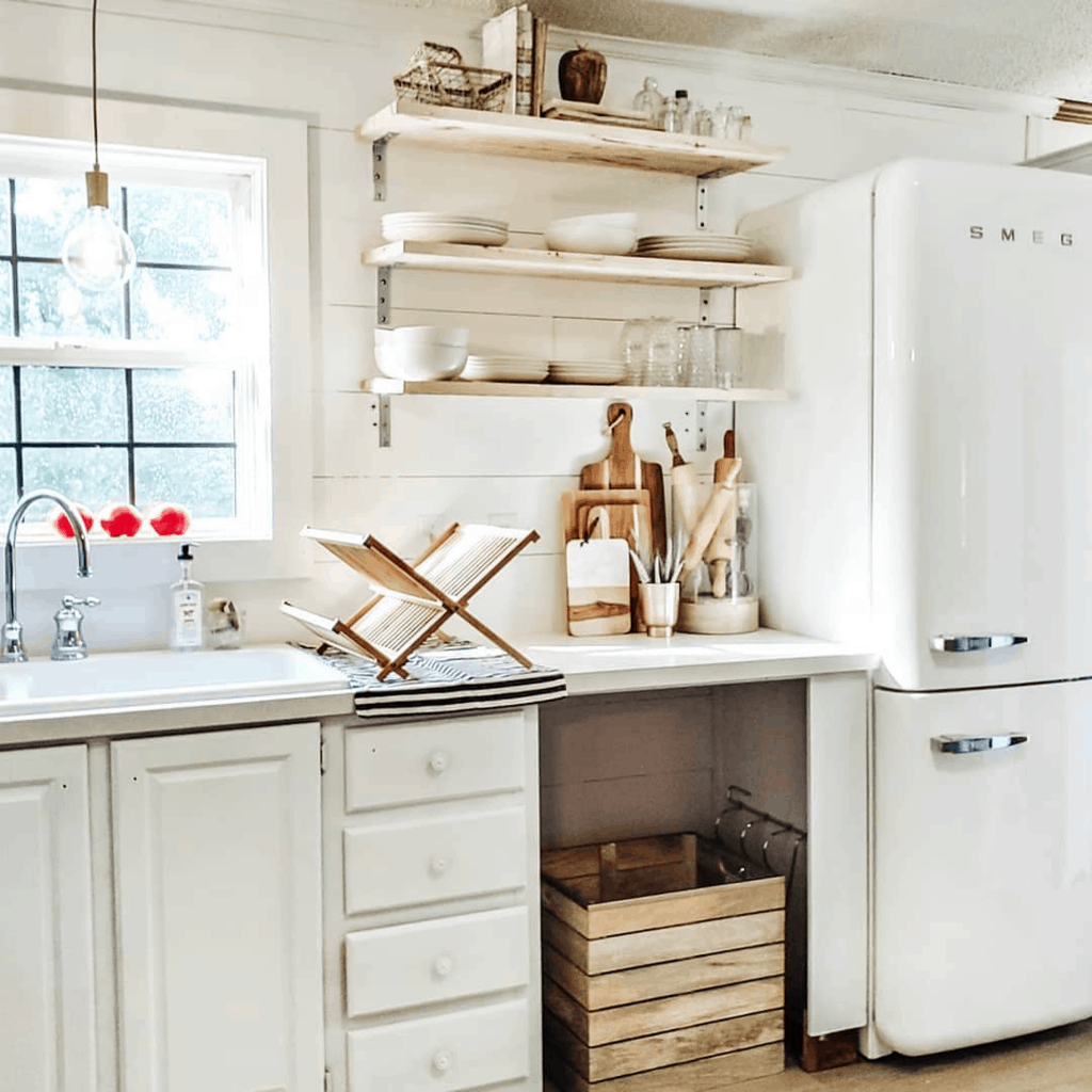 Eclectic Farmhouse Double Wide Mobile Home Kitchen Remodel After00001