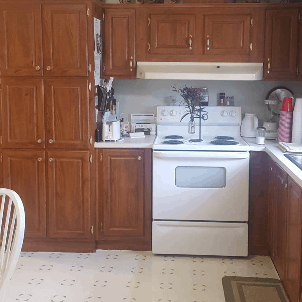 Eclectic farmhouse double wide mobile home kitchen remodel before00001