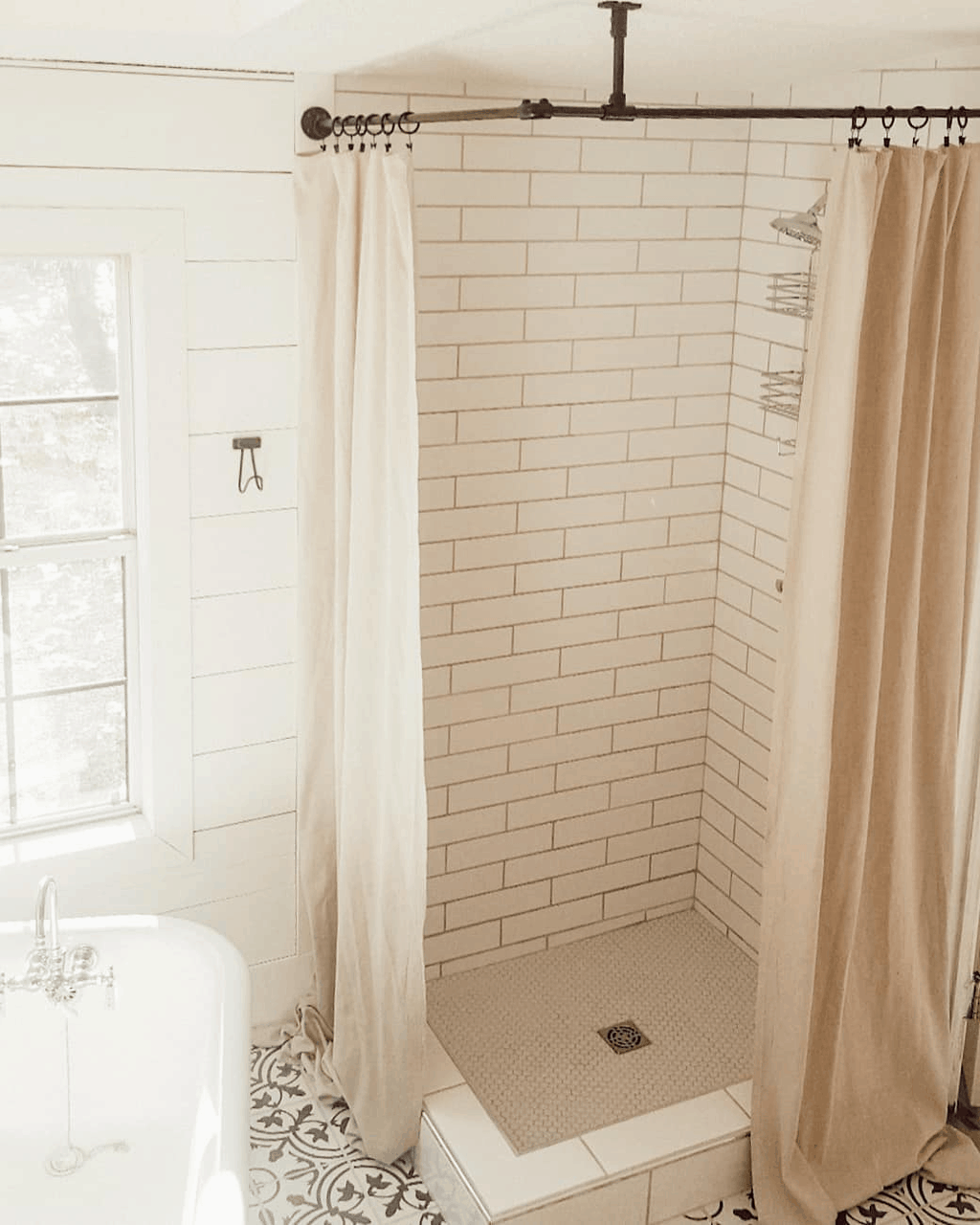 Eclectic Farmhouse Double Wide Mobile Home Master Bathroom Remodel After 00009