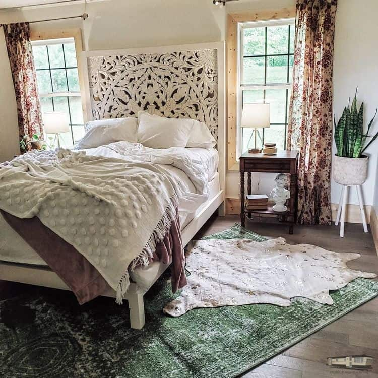 Eclectic Farmhouse Double Wide Mobile Home Master Bedroom After 00003 Jpg