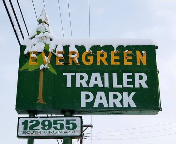 Evergreen Trailer Park Sign