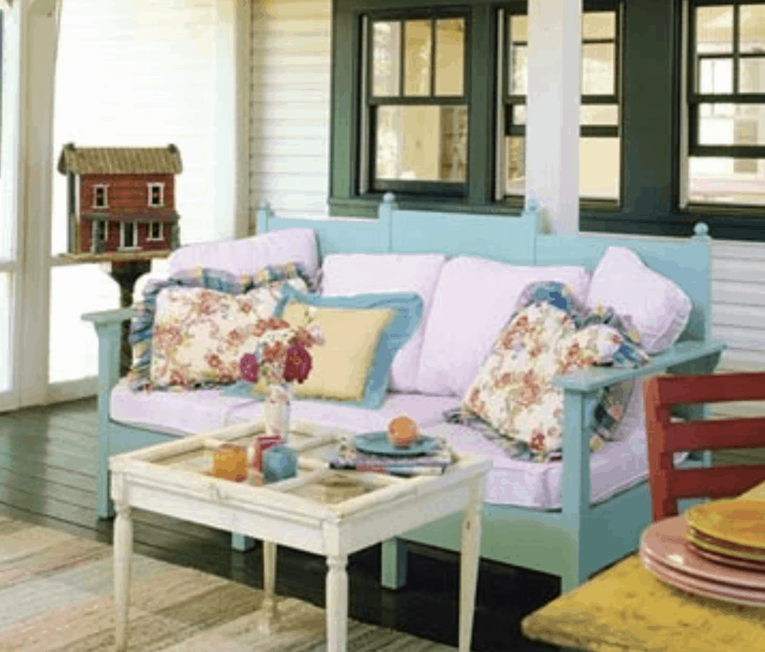 exterior - covered porch onSingle Wide Lake House Makeover - BHG00006