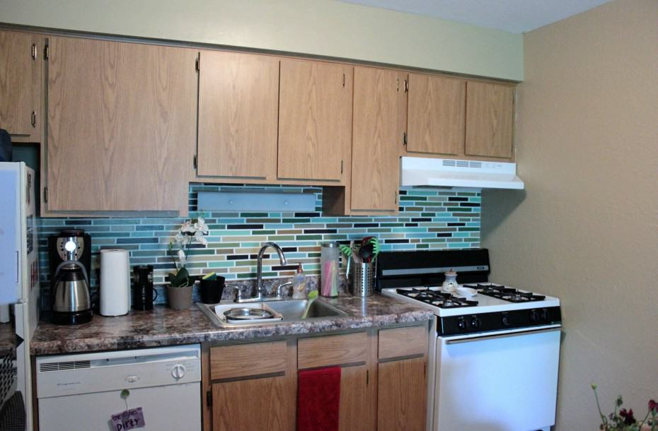 Fake Mosaic Backsplash