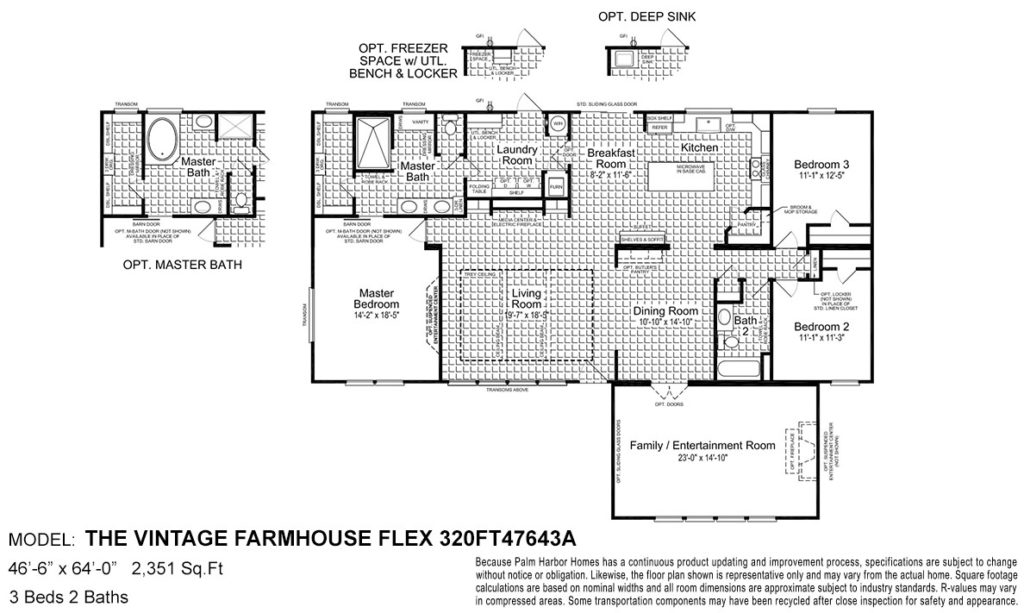 Farmhouse flex floor plan