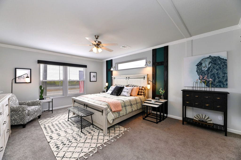 Farmhouse flex master bedroom