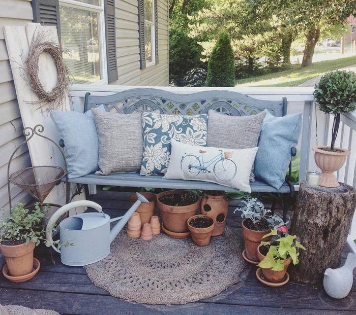 Farmhouse Style Front Porch
