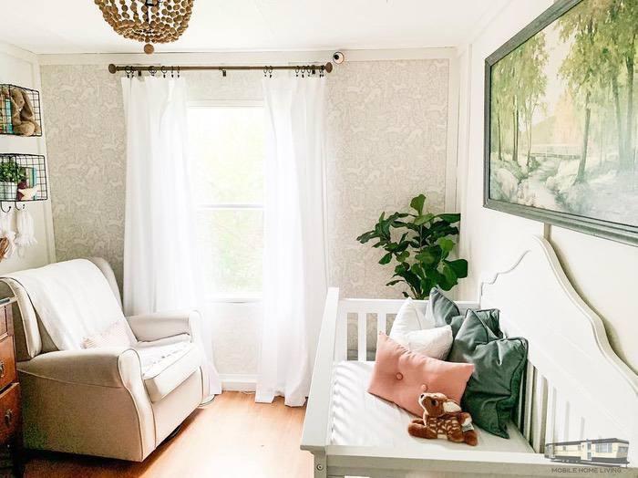 Farmhouse style nursery decor
