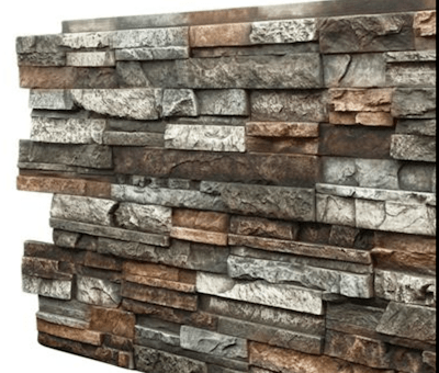 Faux rock panel in brown stacked design1
