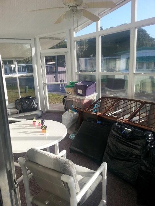 Flip Flop House Sunroom Before