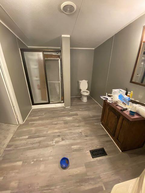 Florida single wide bathroom after