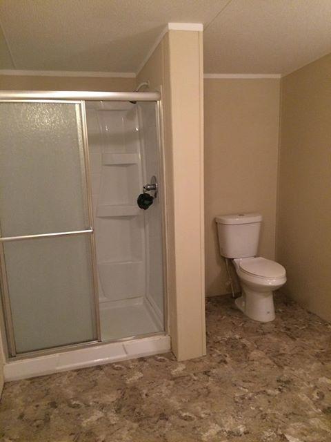 Florida single wide bathroom before