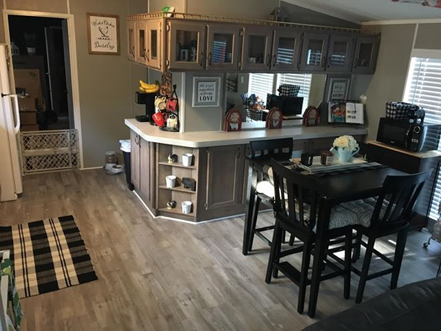 Florida single wide dining area after
