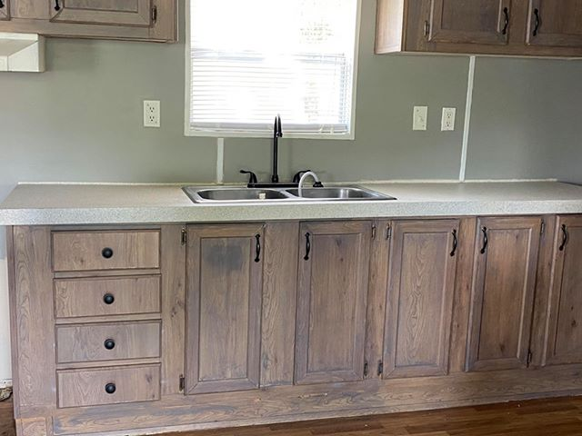 Florida single wide kitchen sink cabinets