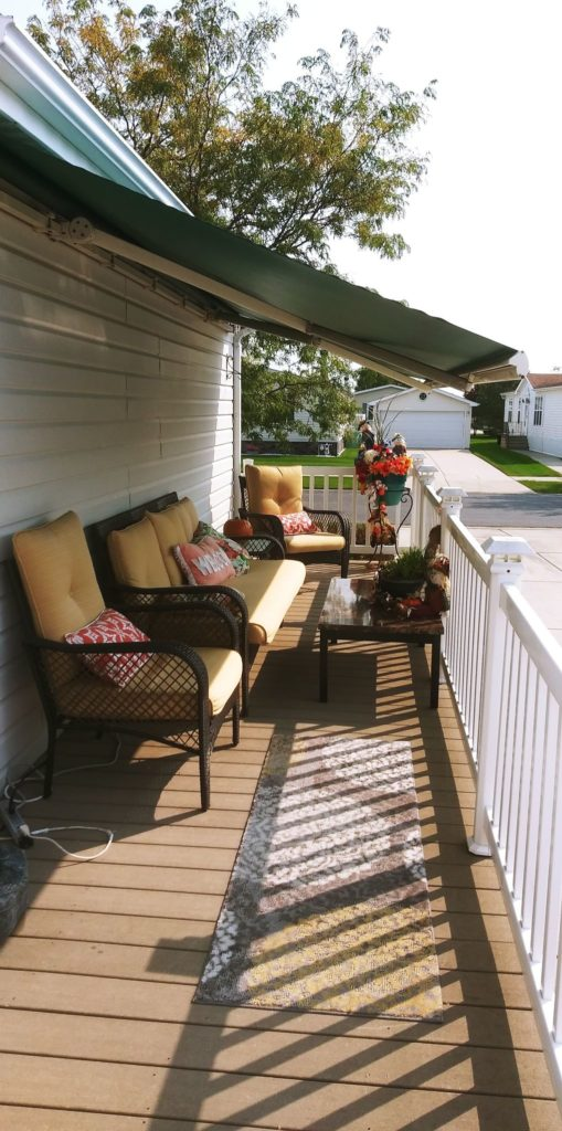 Franklin double wide awning