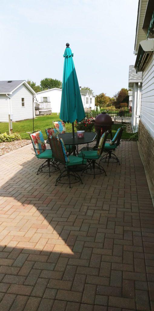 Franklin double wide patio