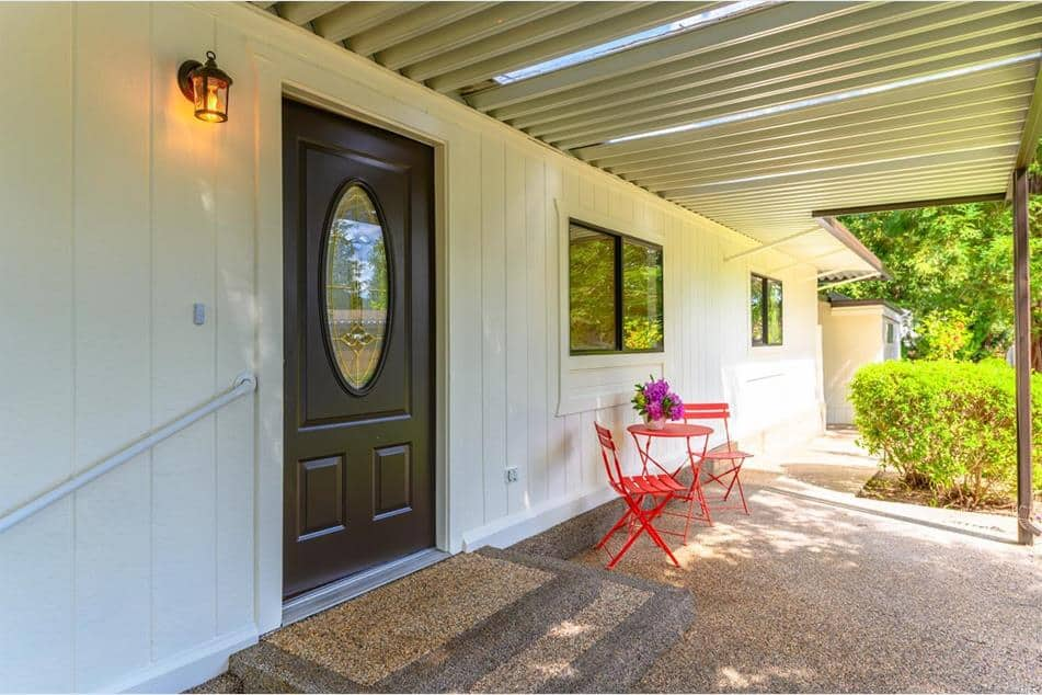 front door in beautiful double wides for sale in CA - 1 los robles ct St helena