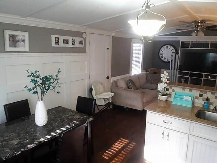 gorgeous-1991-single-wide-interior Painted Single Wide Mobile Homes Interior on kitchen western country homes, painted trim in a mobile home, interior painting ideas for mobile homes,