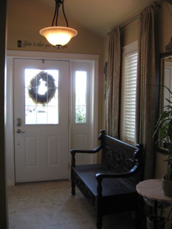 grand entryway on new manufactured home makeove