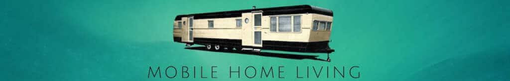 Green Back Black Vintage Mobile Home Living Banner 1250
