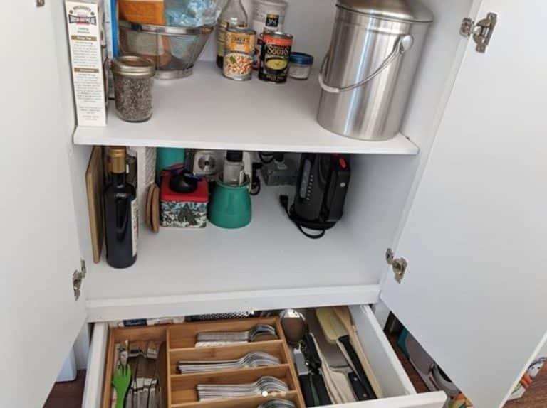 Greyhound kitchen storage
