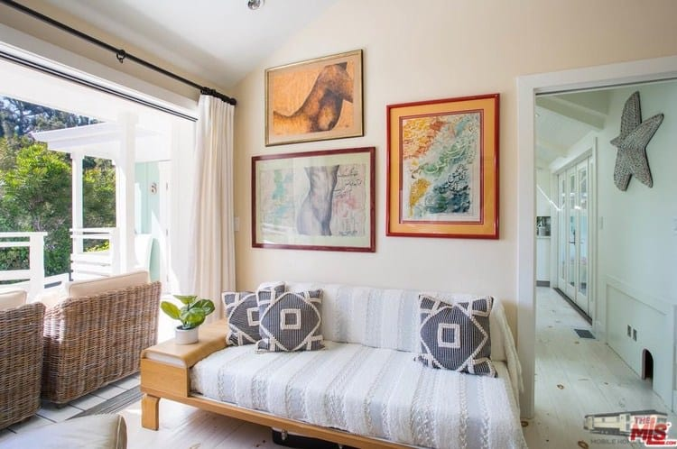 Guest bedroom remodeled double wide at 6 paradise cove rd, malibu, ca for 1. 4 million copy