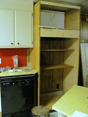 gutting the 1970s mobile home kitchen
