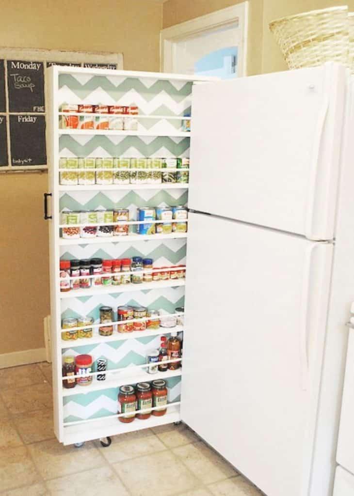 Hidden storage for kitchen