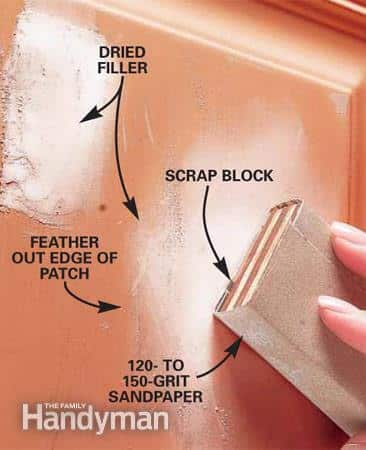 How to repair dents in metal doors