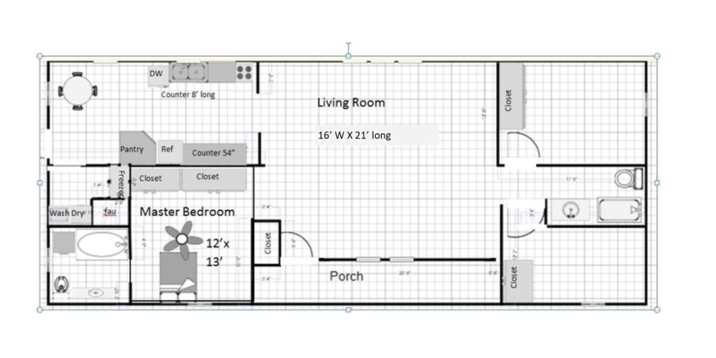 Idaho double wide floor plan 1