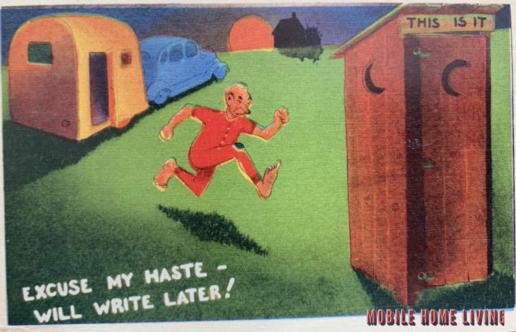 Ill write later outhouse funny postcard 1