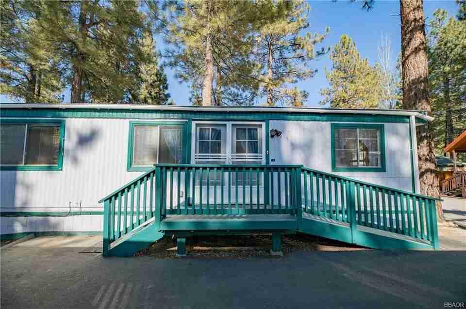 Impressive mobile homes big bear front porch