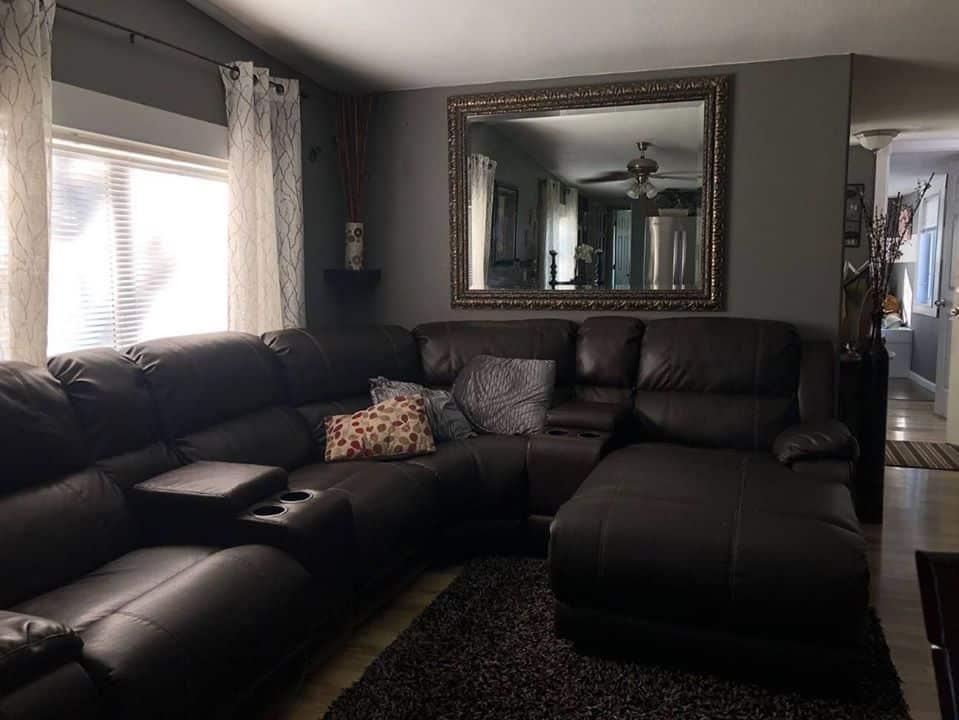 Inexpensive mobile home iowa living room