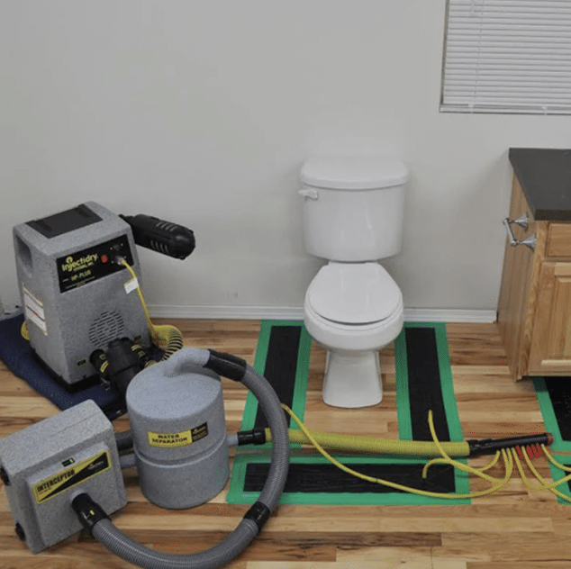 Injectory system for water damage restoration