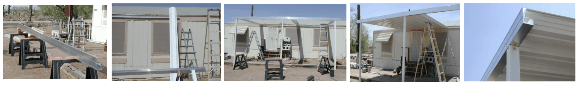 Installing a mobile home carport 2