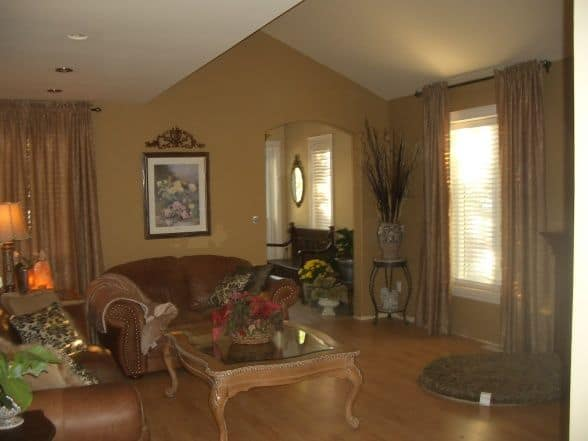 Interior of addition - living room