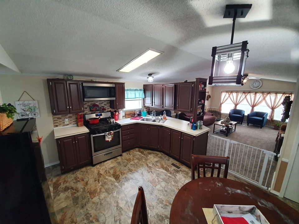 Iowa single wide kitchen